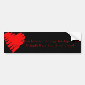 Love Law Bumper Sticker