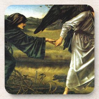 Love Leading The Pilgrim by Edward Burne-Jones Drink Coasters