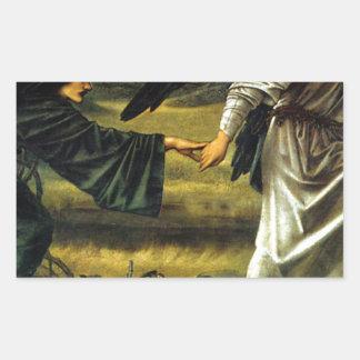 Love Leading The Pilgrim by Edward Burne-Jones Rectangular Sticker