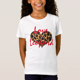 Love Leopard Girls T-Shirt