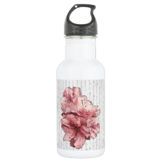Love Letter Pink Illustrated Flower Customize Name 532 Ml Water Bottle