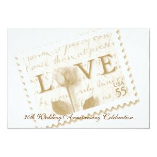 Love Letter Stamp Anniversary Invitations