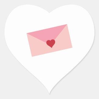 Love Letter Heart Sticker
