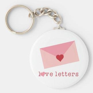 Love Letters Basic Round Button Keychain