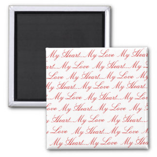 Love Letters Square Magnet