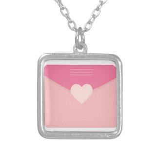 Love Letters Square Pendant Necklace