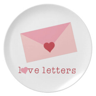 Love Letters Party Plates