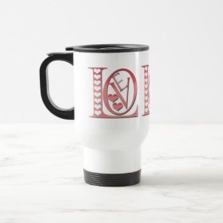 Love Letters With Hearts by Shirley Taylor Travel Mug