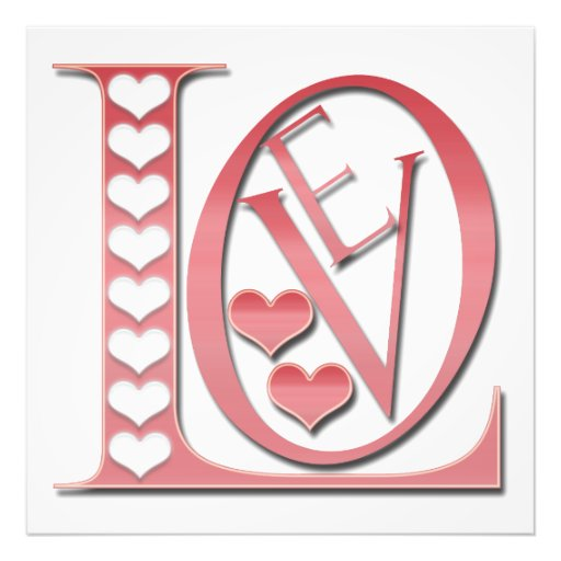 Love Letters With Hearts Photo Print