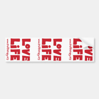 Love Life Bumper Sticker (times three)