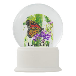 Love Life Butterfly Snow Globe