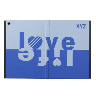 Love / Life custom monogram cases iPad Air Cases