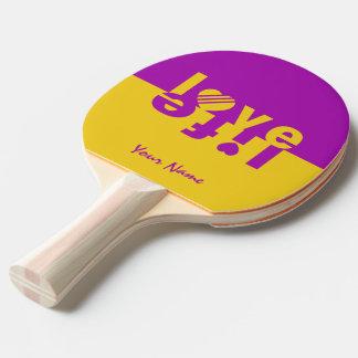 LOVE LIFE custom ping pong paddle