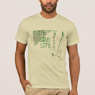 Love Life Graffiti Basic American Apparel T-Shirt