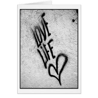 Love Life Graffiti Card