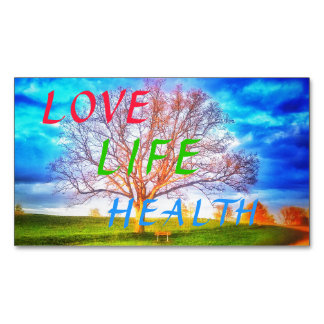 LOVE LIFE HEALTH TREE MAGNET2 Magnetic BUSINESS CARD