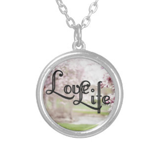 Love Life Silver Plated Necklace