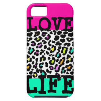 Love Life with Leopard Print iPhone 5 Case