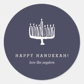 Love + Light Hanukkah Holiday Stickers - Light