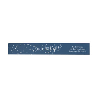 Love & Light Holiday Wraparound Address Label