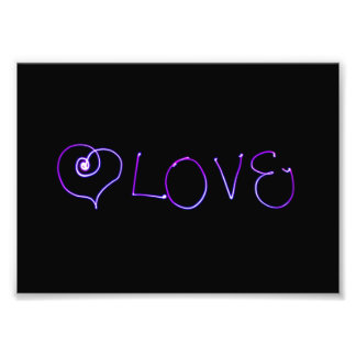 Love -  Light Painting Photo