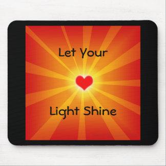 Love Light Shine Line Mouse Pads
