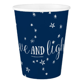 Love & Light Stars Holiday Party Cups