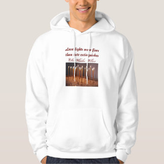 Love lights mens hoodie