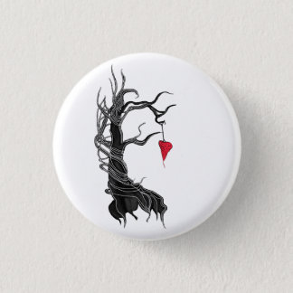 Love, like a tree 3 cm round badge