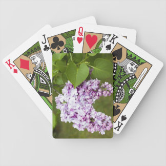LoVe Lilac Flowers Bicycle Playing Cards