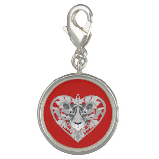 Love Lioness Locket (red) charm