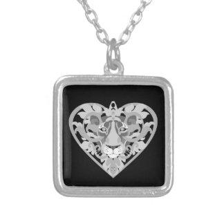 Love Lioness Locket square necklace