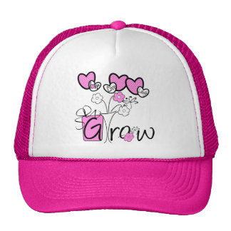 Love Live Laugh Grow Gardening tshirts and Gifts Cap