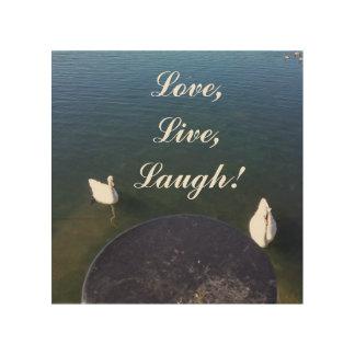 love live laugh wood print
