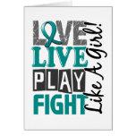 Love Live Play Fight Like A Girl Ovarian Cancer Card