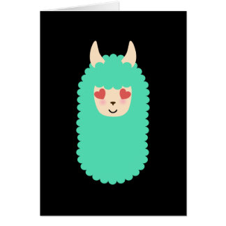 Love Llama Emoji Card