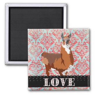 Love Llama Magnet