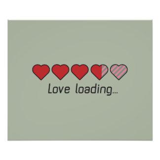 Love loading hearts Zzl2s Photo Print