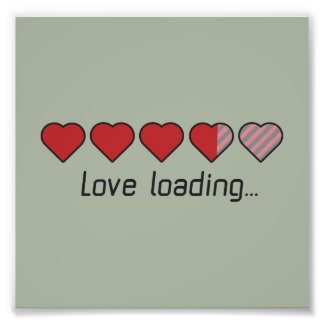 Love loading hearts Zzl2s Photo Print