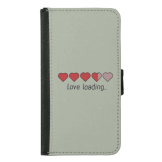 Love loading hearts Zzl2s Samsung Galaxy S5 Wallet Case