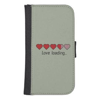 Love loading hearts Zzl2s Samsung S4 Wallet Case