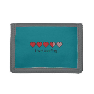 Love loading hearts Zzl2s Tri-fold Wallets