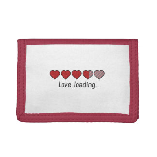 Love loading hearts Zzl2s Trifold Wallet