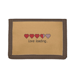 Love loading hearts Zzl2s Trifold Wallets