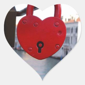 love lock in venice heart sticker