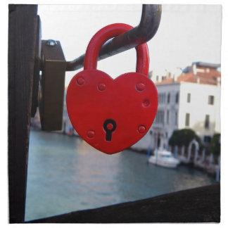 love lock in venice napkin
