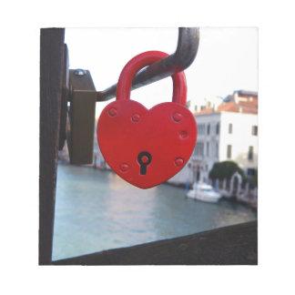 love lock in venice notepad