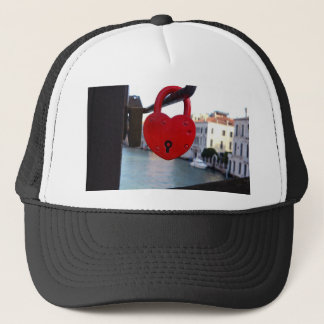 love lock in venice trucker hat