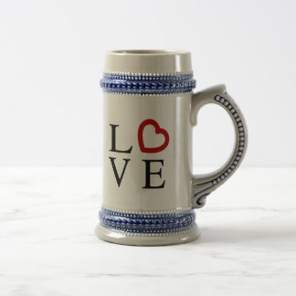 Love Logo Beer Steins