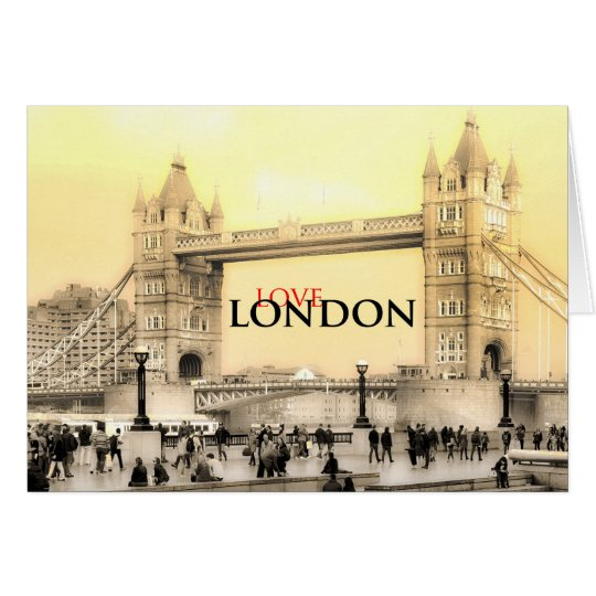 Love London Greetings Card